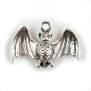 Bat 3D Sterling Silver Charm